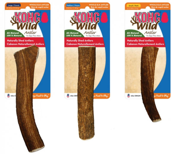 KONG Wild All-Natural Whole Elk Antler for Dogs