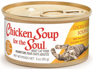Chicken Soup For The Soul Grain Free Chicken Souffle with Sweet Potatoes and Spinach Canned Cat Food