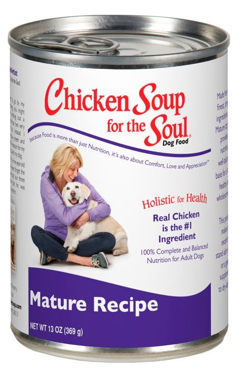 Chicken Soup For The Soul Mature Recipe Canned Dog Food