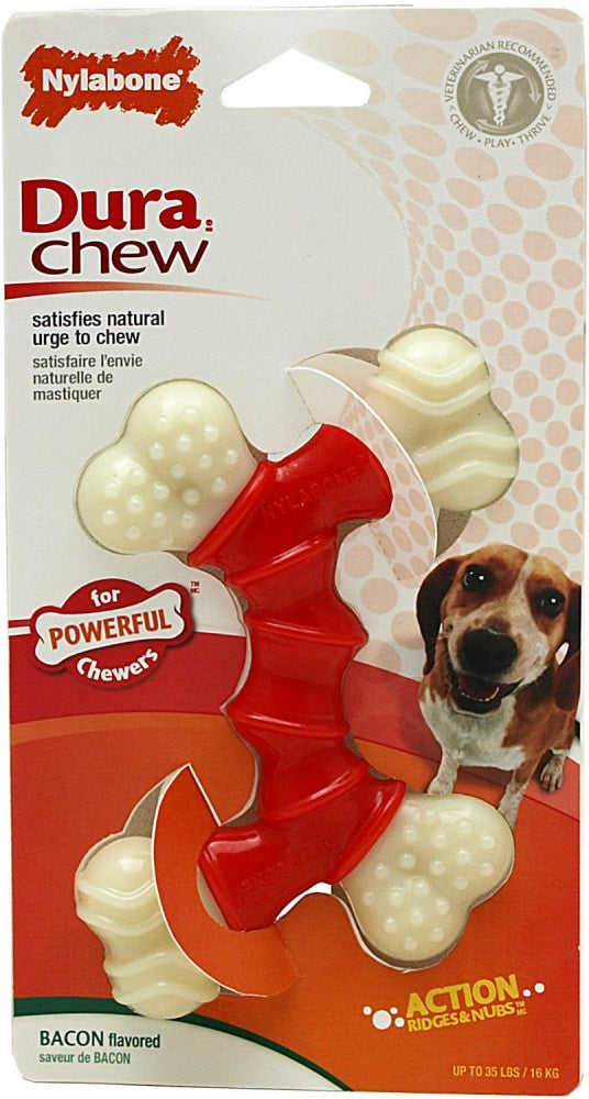 Nylabone DuraChew Double Bone Bacon Flavor Dog Toy