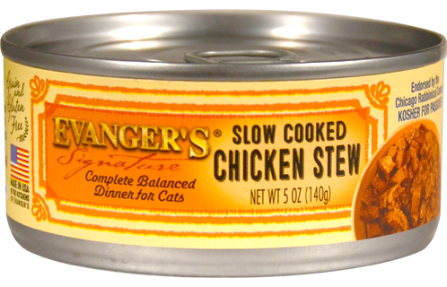 Evanger's Signature Series Grain Free Slow Cooked Chicken Stew Canned Cat Food