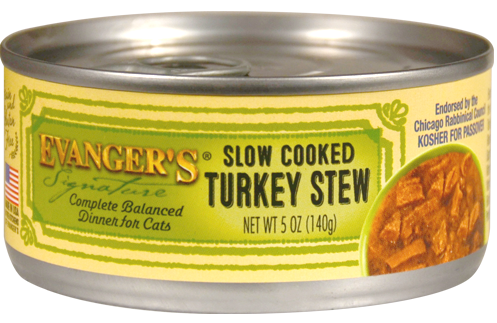 Evanger's Signature Series Grain Free Slow Cooked Turkey Stew Canned Cat Food