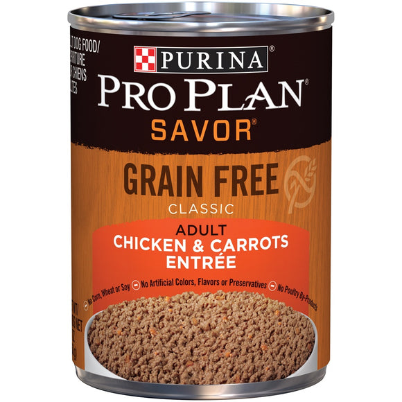 Purina Pro Plan Natural Adult Grain-Free Classic Chicken & Carrots Entree Canned Dog Food