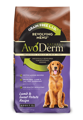 Avoderm Revolving Menu Grain Free Lamb and Sweet Potato Recipe Adult Dry Dog Food
