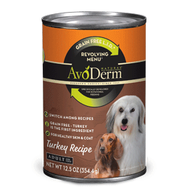 Avoderm Revolving Menu LID Grain Free Turkey Recipe Adult Canned Dog Food