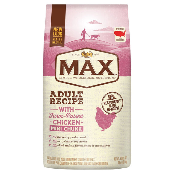 Nutro Max Adult Recipe With Farm Raised Chicken Mini Chunk Dry Dog Food
