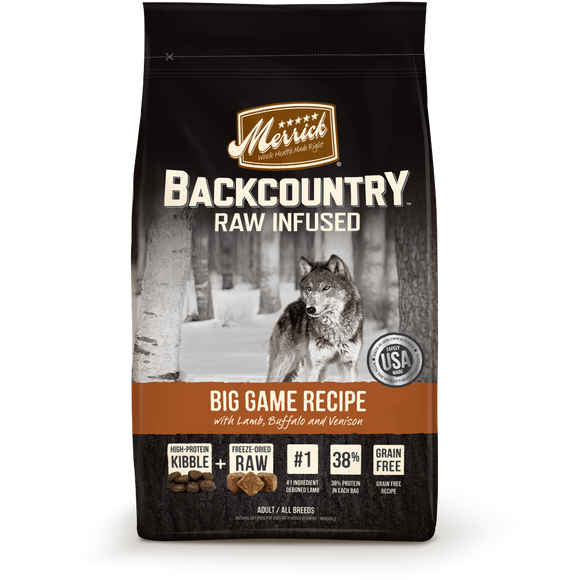 Merrick Backcountry Adult Grain Free Big Game Recipe Dry Dog Food