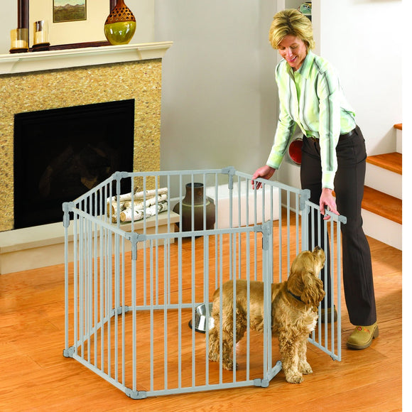 North States 3-in-1 Metal Superyard Pet Pen 6 Panels