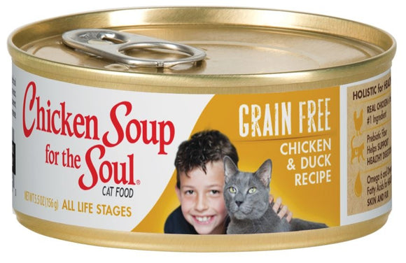 Chicken Soup For The Soul Grain Free Chicken and Duck Recipe Canned Cat Food