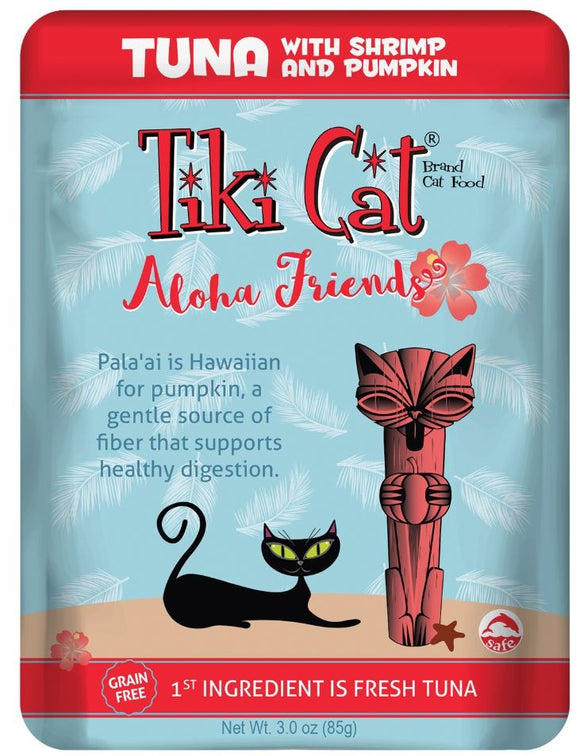 Tiki Cat Aloha Friends Grain Free Tuna with Shrimp and Pumpkin Cat Food Pouches