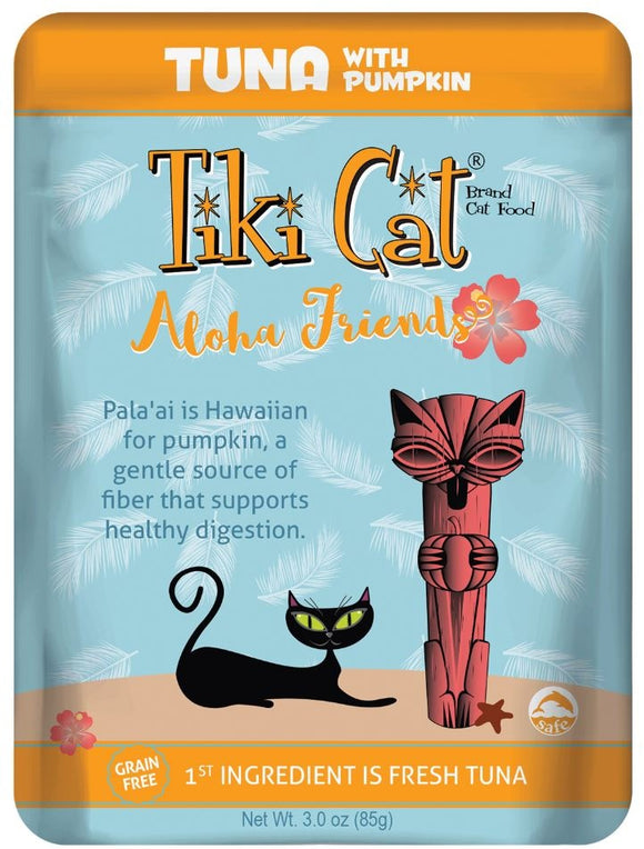 Tiki Cat Aloha Friends Grain Freed Tuna with Pumpkin Cat Food Pouches