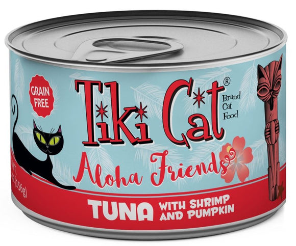 Tiki Cat Aloha Friends Grain Free Tuna with Shrimp and Pumpkin Canned Cat Food