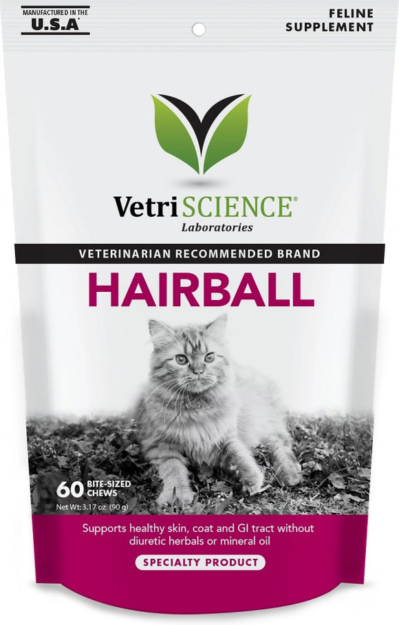 VetriScience Hairball Bite-Sized Cat Chews