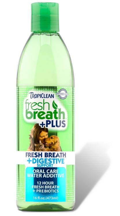 Tropiclean Fresh Breath Water Additive Plus Digestive Support for Dogs and Cats