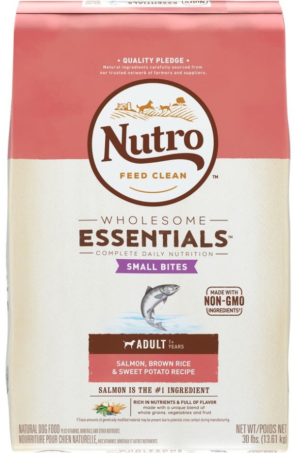 Nutro Wholesome Essentials Adult Small Bites Salmon, Whole Brown Rice and Sweet Potato Dry Dog Food