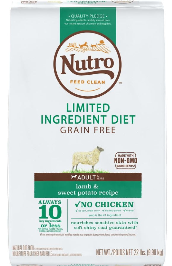 Nutro Limited Ingredient Diet Grain Free Adult Lamb and Sweet Potato Dry Dog Food