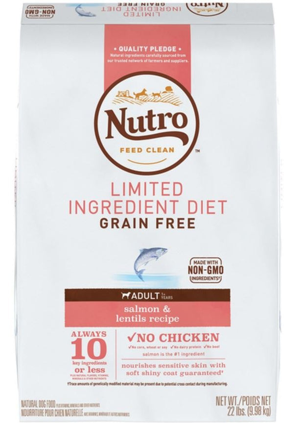 Nutro Limited Ingredient Diet Grain Free Adult Salmon and Sweet Potato Dry Dog Food