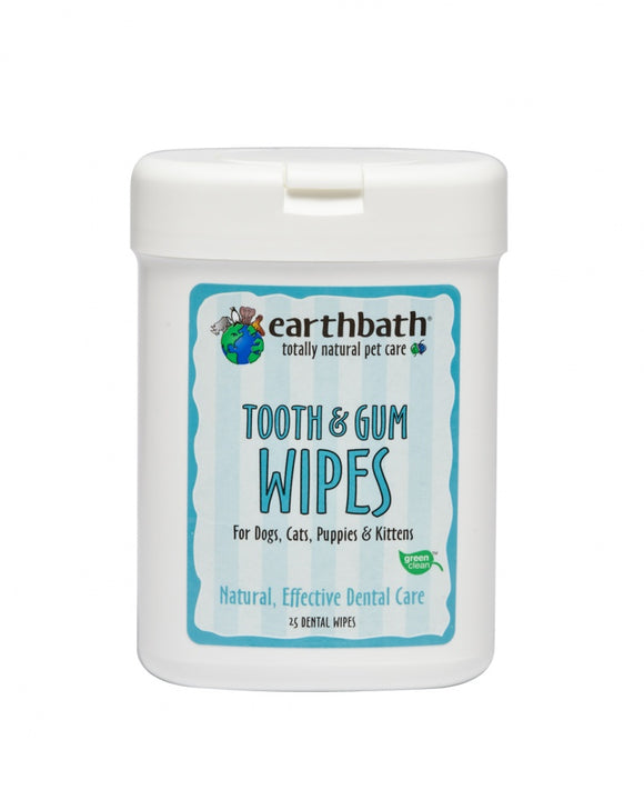 Earthbath Tooth and Gum Wipes for Dogs and Cats