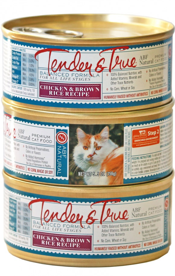 Tender & True Antibiotic-Free Chicken and Brown Rice Recipe Canned Cat Food