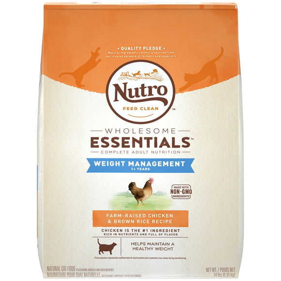 Nutro Wholesome Essentials Weight Management Adult Chicken and Brown Rice Dry Cat Food