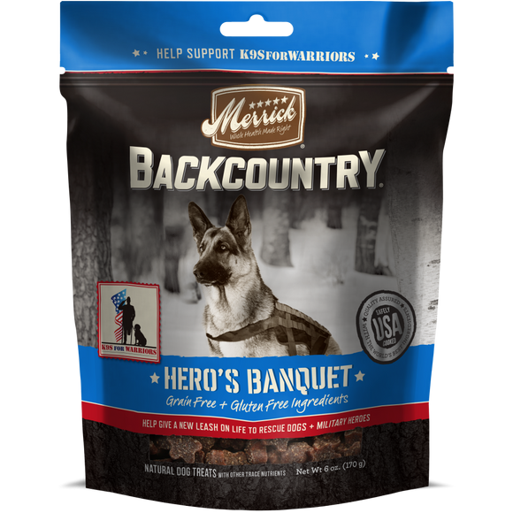 Merrick Backcountry Grain Free Hero's Banquet Dog Treats