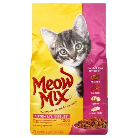 Meow Mix Kitten Li'l Nibbles Dry Cat Food