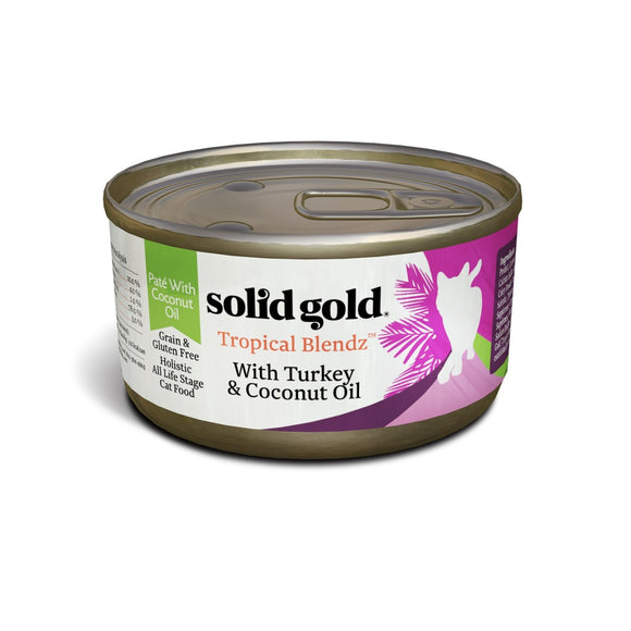 Solid Gold Tropical Blendz Grain Free Pate with Turkey & Coconut Oil Canned Cat Food