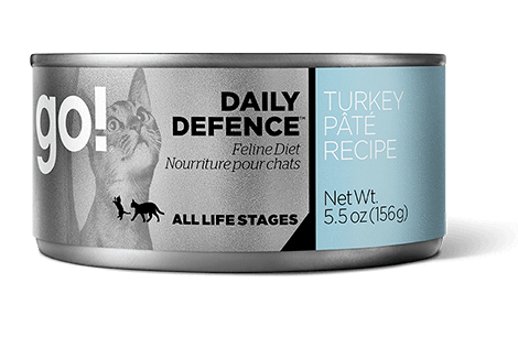 Petcurean Go! Daily Defence Turkey Pate Canned Cat Food