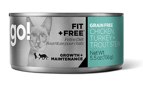 Petcurean Go! Fit and Free Grain Free Chicken, Turkey & Trout Stew Canned Cat Food