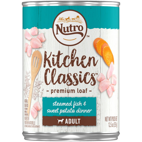 Nutro Kitchen Classics Steamed Fish & Sweet Potato Dinner Adult Canned Dog Food
