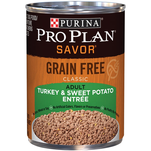 Purina Pro Plan Savor Grain Free Classic Adult Turkey & Sweet Potato Entree Canned Dog Food