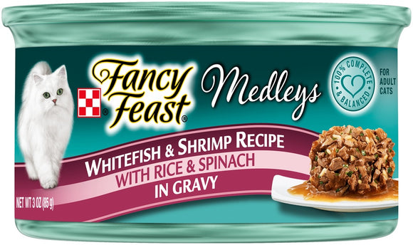 Fancy Feast Medleys Whitefish & Shrimp Recipe Canned Cat Food
