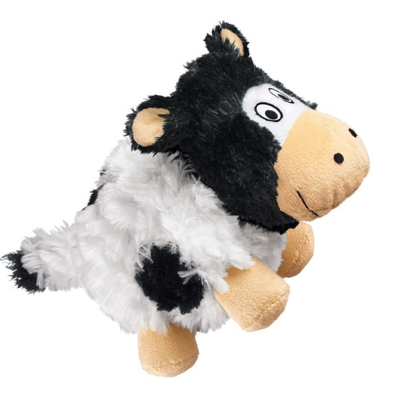 KONG Barnyard Cruncheez Cow Plush Dog Toy