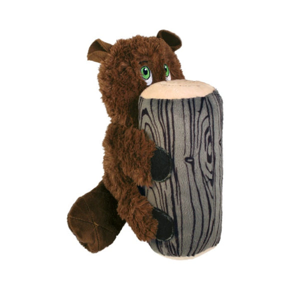 KONG Huggz Hiderz Beaver Plush Dog Toy