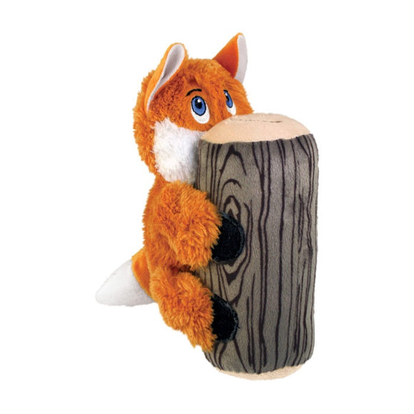 KONG Huggz Hiderz Fox Plush Dog Toy