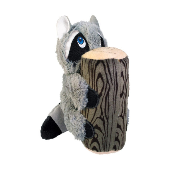 KONG Huggz Hiderz Raccoon Plush Dog Toy