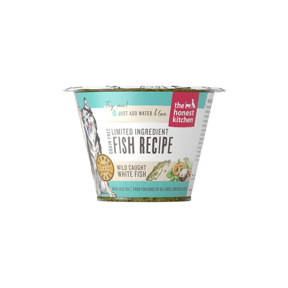 The Honest Kitchen Grain Free Limited Ingredient Fish Recipe Dehydrated Dog Food Cups