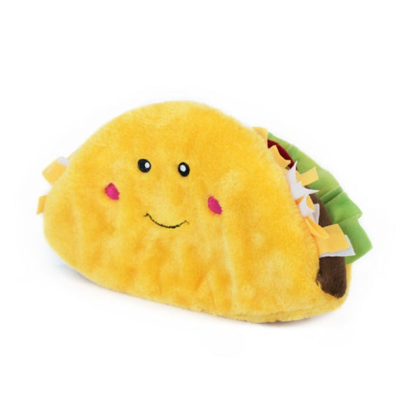 ZippyPaws NomNomz Plush Jumbo Taco Dog Toy