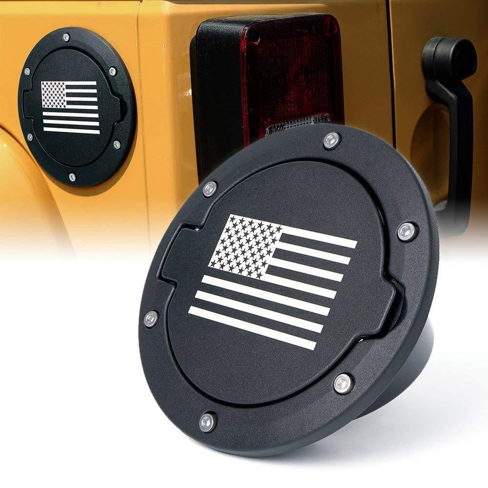 Fuel Filler Gas Tank Cap USA Flag for 07-17 Jeep JK JKU