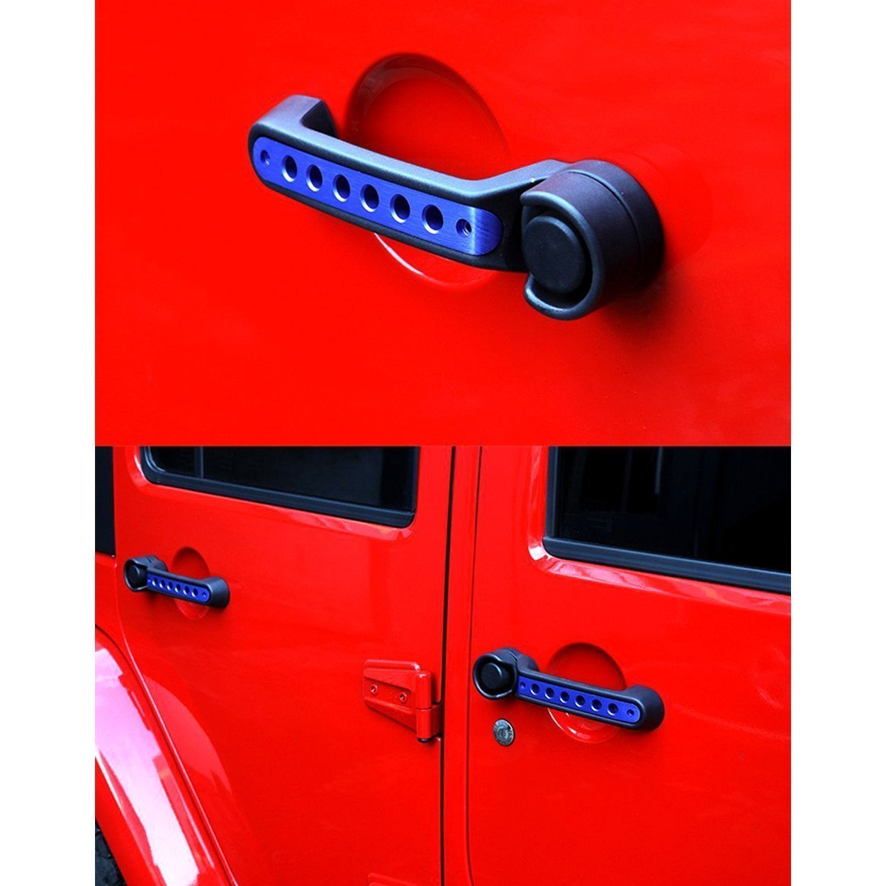 Blue Handle Insert Trim for 2 Door Jeep JK 07-17