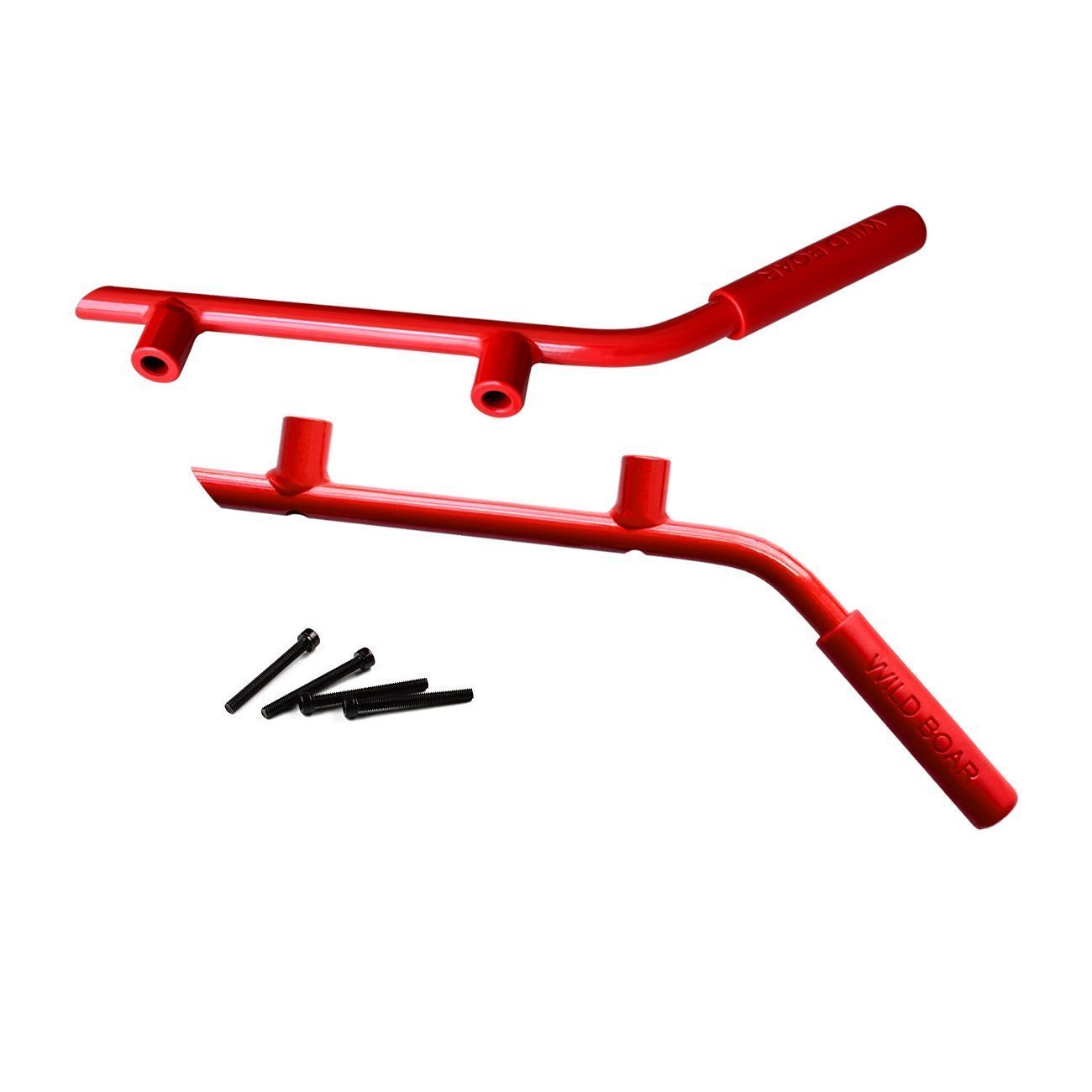 wildparts Grab Handles Rear Red Grab Handles for Jeep Wrangler JK 07-17