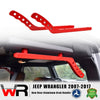 Red Rear Aluminum Handles for Jeep Wrangler JK 07-17