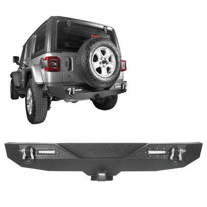 wildrock4x4 Bumpers 18-19 Jeep Wrangler JL Rear Bumper w/ LED Floodlights
