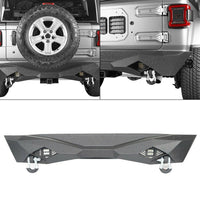 wildrock4x4 Bumpers Diomand Style Rear Bumper for 18-19 Jeep Wrangler JL