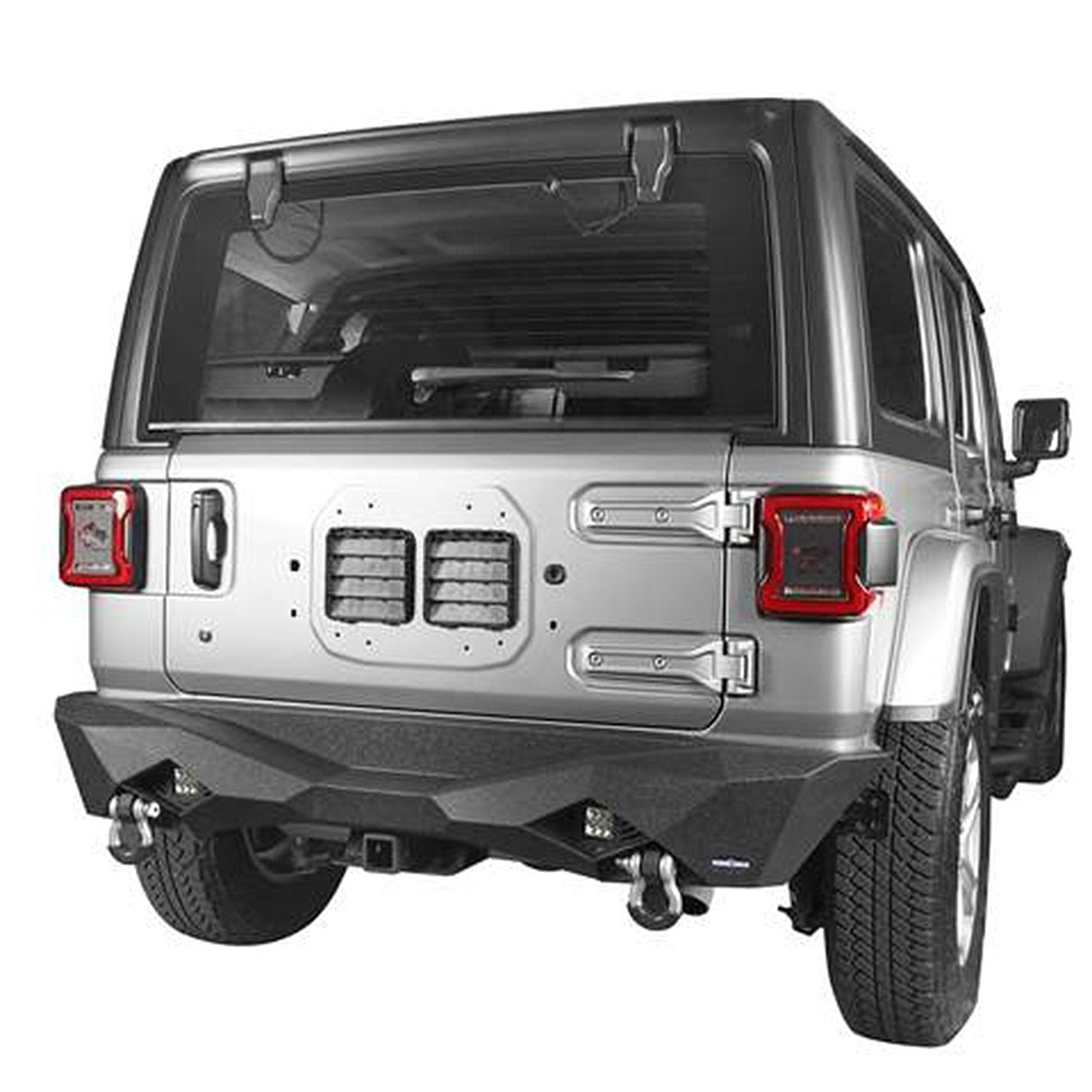 Diomand Style Rear Bumper for 18-19 Jeep Wrangler JL