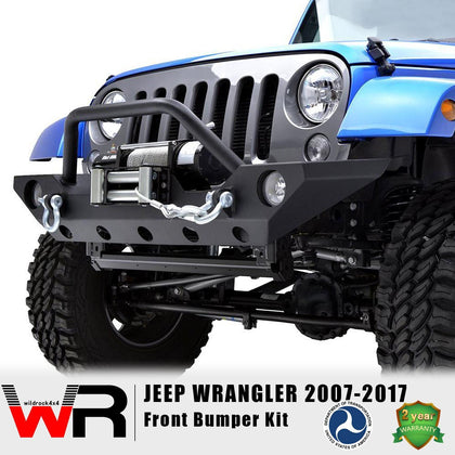 wildrock4x4 Bumpers Front Bumper Kit for Jeep Wrangler JK 07-17