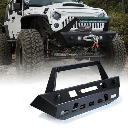 wildrock4x4 Bumpers Front Bumper w/ Winch Plate for 07-17 Jeep Wrangler