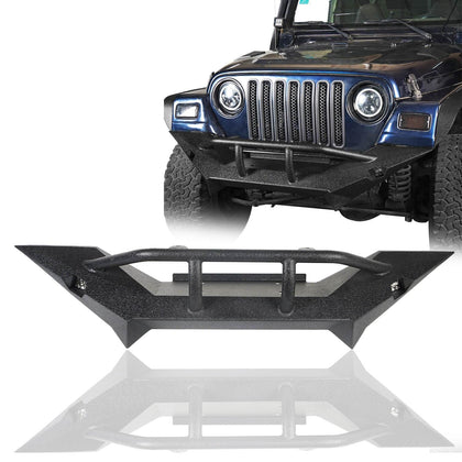 wildrock4x4 Bumpers Front Bumper with LED Spotlights for 97-06 Jeep Wrangler TJ