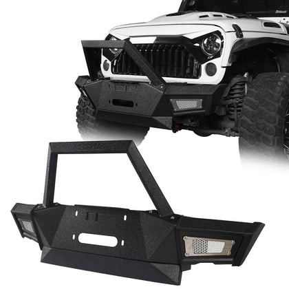wildrock4x4 Bumpers Mid Front Bumper for 07-18 Jeep Wrangler Jk