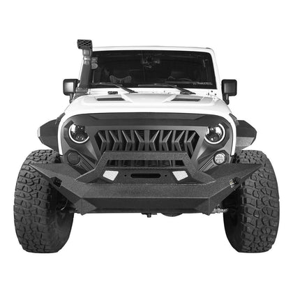 wildrock4x4 bumpers Mid Width Front Bumper w/Winch Plate for 07-18 Jeep Wrangler JK